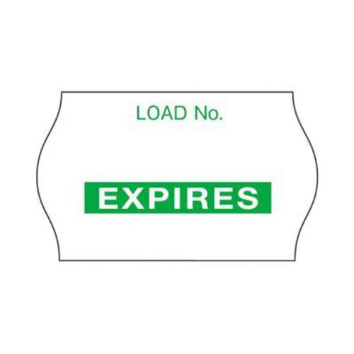 3M Comply Load Labels - Expires Green 1125/Roll