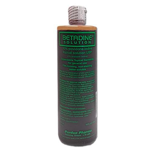 Betadine 10% Povidone-Iodine Antiseptic Solution 500ml bottle