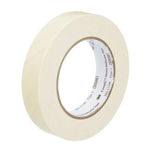 """3M Comply Lead-Free Steam Indicator Tape 1"""" x 60 Yards"""