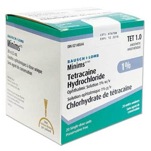 Minims® Tetracaine HCL 1% Drops 20/box