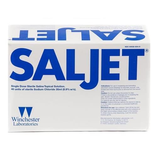 Saljet Sterile Saline for Irrigation 30ml Unit Dose 40/box