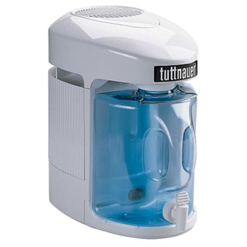 """<div id=""""product-title""""> <h1>Water Distiller</h1> </div> <div> <p>Tuttnauer offers a distiller that provides pure water that is 99% free of total dissolved solids. These distillers eliminate the inconvenience and expense of buying bottled water. Their ease of operation makes them ideal for any medical, dental or laboratory application.</p> <h2>Model 9000 Steam Distiller</h2> <p>The Tuttnauer 9000 features a removable boiler for easy fill and a unique recessed heating base to reduce scale buildup.</p> <div> <div> <ul> <li>Contemporary Euro-Style Design</li> <li>Manual Fill – No Water Hookups</li> <li>Automatic Shut-Off</li> <li>Post Carbon Treatment System</li> <li>Stainless Steel Condenser Not Aluminum</li> <li>External Heating Element for Long Life</li> <li>Fan-Delayed Start for Improved Efficiency</li> </ul> </div> <div> <ul> <li> UL Listed #28KL</li> <li>EST #46050JPO1</li> <li>USA Patent Pending</li> <li>1 Year Limited Warranty – Parts & Labor</li> <li>120VAC/ 60 Hz 750 W<br> International 230VAC/50 Hz 750W</li> <li>Distillate Capacity – 1 Gallon (3.97L) in 4.5 Hours Will Provide Up to 5 Gallons (18.93L) in 24 Hours</li> </ul> <p></p> </div> <p></p> </div> <p></p> <table border=""""0"""" width=""""99%""""> <tbody> <tr> <td rowspan=""""2"""" bgcolor=""""#e40822"""" valign=""""top""""><strong>Model</strong></td> <td colspan=""""3"""" bgcolor=""""#e40822"""" valign=""""top""""><div align=""""center""""><strong>Dimensions</strong></div></td> <td rowspan=""""2"""" bgcolor=""""#e40822"""" valign=""""top""""><strong>Weight<br> lbs (kg)</strong> </td> </tr> <tr> <td bgcolor=""""#e40822"""" valign=""""top""""><strong>Width Inn. (cm) </strong></td> <td bgcolor=""""#e40822"""" valign=""""top""""><strong>Depth Inn. (cm) </strong></td> <td bgcolor=""""#e40822"""" valign=""""top""""><strong>Height Inn. (cm)</strong> </td> </tr> <tr> <td bgcolor=""""#cccccc"""" valign=""""top""""><strong>9000</strong></td> <td bgcolor=""""#cccccc"""" valign=""""top"""">9.5"""" (24.13)</td> <td bgcolor=""""#cccccc"""" valign=""""top"""">16"""" (40.64)</td> <td bgcolor=""""#cccccc"""" valign=""""top"""">15"""" (38.10)</td> <td bgcolor=""""#cccccc"""" valign=""""top"""""""