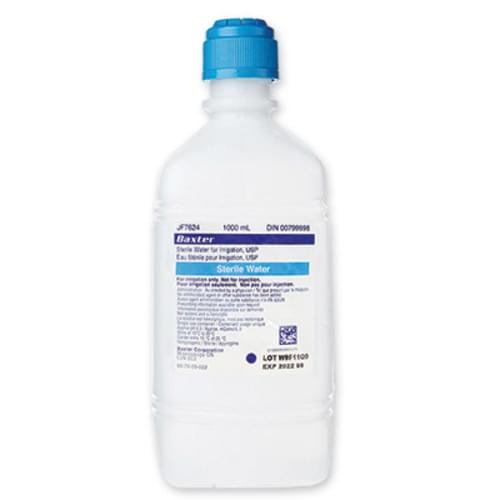 Sterile Water Irrigation 1000ml Pour Bottle