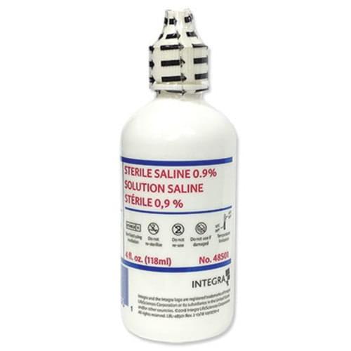 Sterile Saline 0.9% for Irrigation 4oz Bottle 12/Case