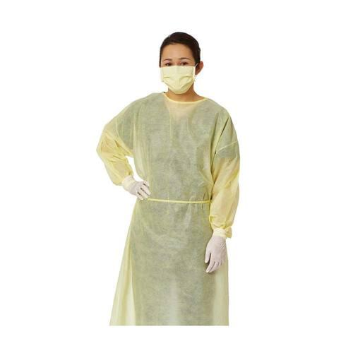 Yellow Level 2 Isolation Gowns Large 10/Pack
