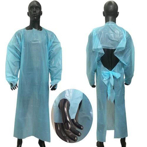 Disposable CPE Blue Isolation Gown 10/pack