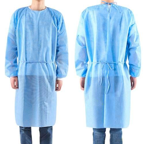 Blue Disposable Level 2 Isolation Gown Pack of 10 Gowns