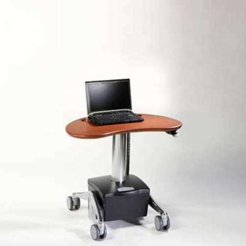 Midmark Care Exchange 6256 DC Powered Kidney Style Laptop Cart