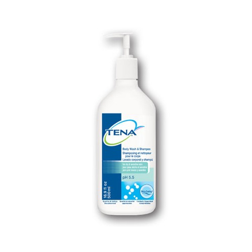 TENA Shampoo & Bodywash 500mL 10/Case
