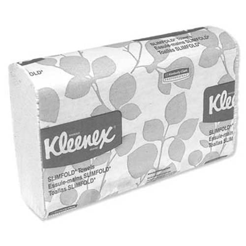 "<p>The unique design of Kleenex® Slimfold fits the tightest spaces inside or outside of the washroom.</p> <p><strong>Details</strong></p> <ul> <li>One-at-a-time dispensing</li> <li>Reduces waste</li> <li>Exclusive absorbency pockets</li> <li>Excellent absorbency and hand-drying performance</li> <li>Environmentally sound product</li> <li>Meets EPA standards for minimum post-consumer waste</li> <li>FSC certified</li> <li>Content: 60% recycled fiber, 40% post-consumer waste</li> <li>90 ct</li> <li>White</li> <li>7 1/2"" x 11 3/5""</li> </ul>"