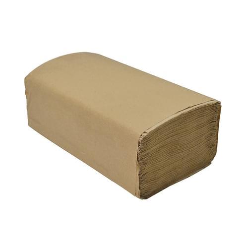 Dura Plus Kraft Singlefold Brown Paper Towel