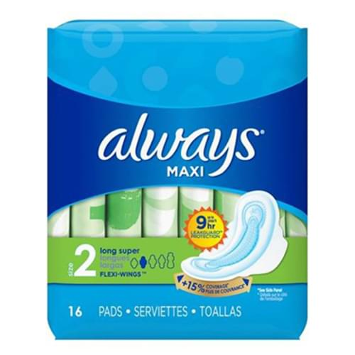 Always Maxi Pad Size 2 With Wings