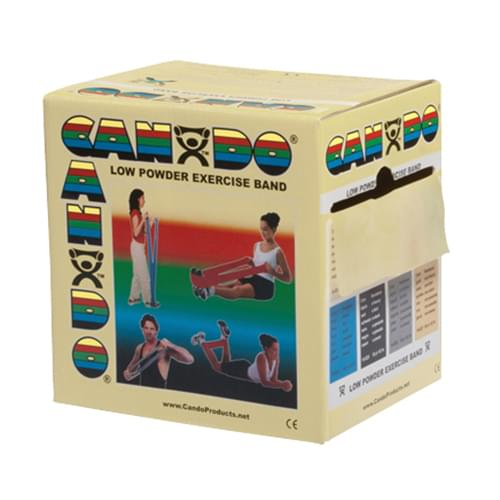 CanDo Low Powder Latex Exercise Band 50 yd. XX-Light Tan
