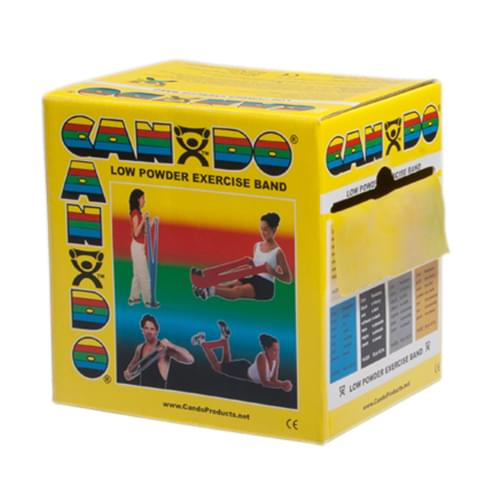 CanDo Low Powder Latex Exercise Band 50 yd. X-Light Yellow