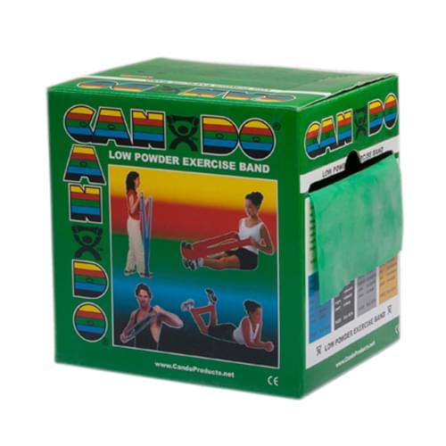 CanDo Low Powder Latex Exercise Band 50 yd. Medium Green