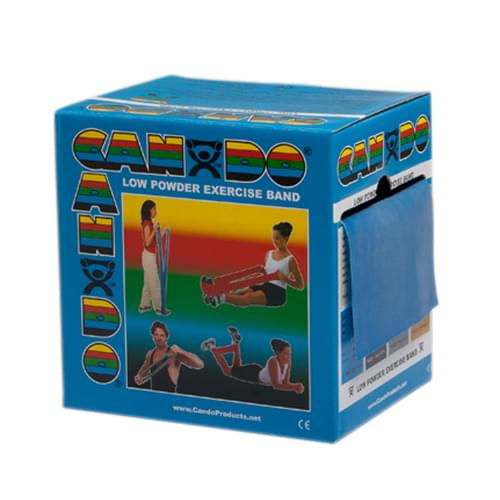 CanDo Low Powder Latex Exercise Band 50 yd. Heavy Blue
