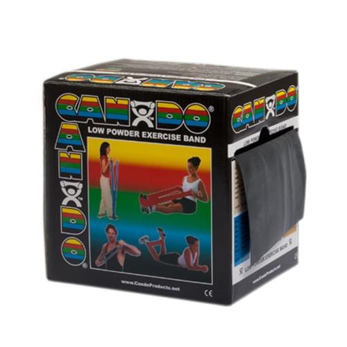 CanDo Low Powder Latex Exercise Band 50 yd. X-Heavy Black