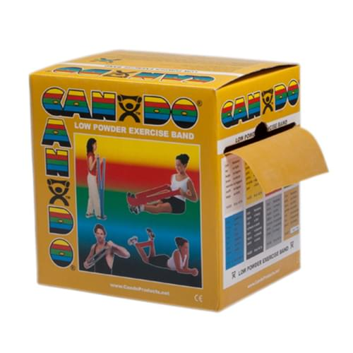 CanDo Low Powder Latex Exercise Band 50 yd. XXX-Heavy Gold