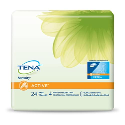 TENA ACTIVE Ultra Thin Pad Long Light