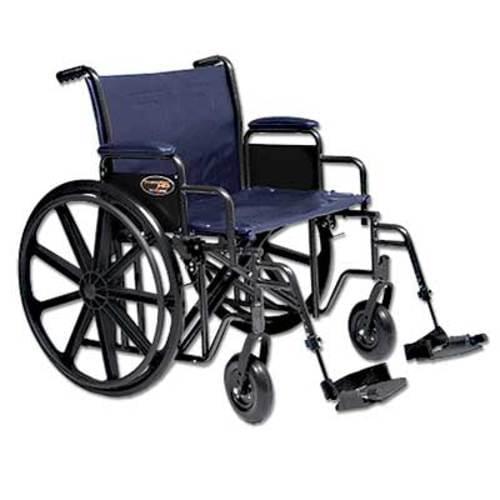 "Wheelchair Navy Blue Bariatric 22"""