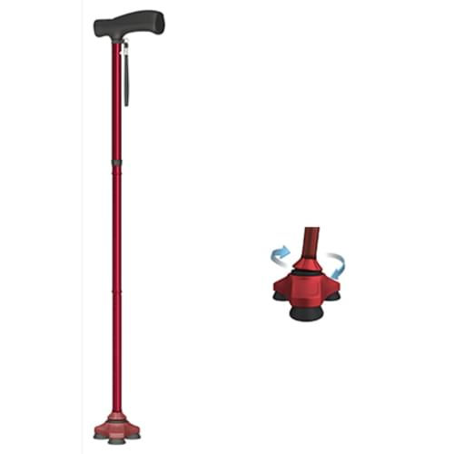 HurryCane® Freedom Edition - The All-Terrain Cane - Red