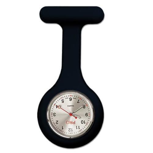 Silicone Lapel Watch - Black