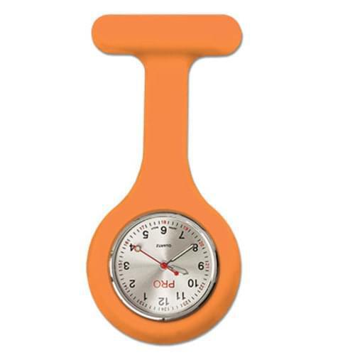 Silicone Lapel Watch - Orange