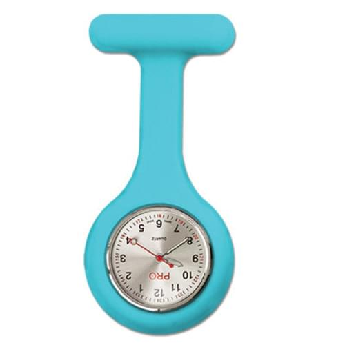 Silicone Lapel Watch - Aqua Blue