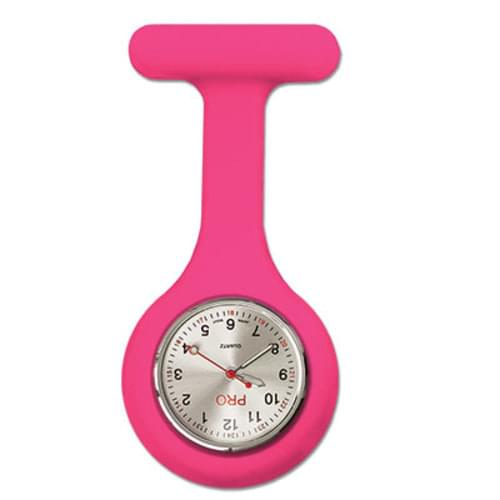 Silicone Lapel Watch - Hot Pink