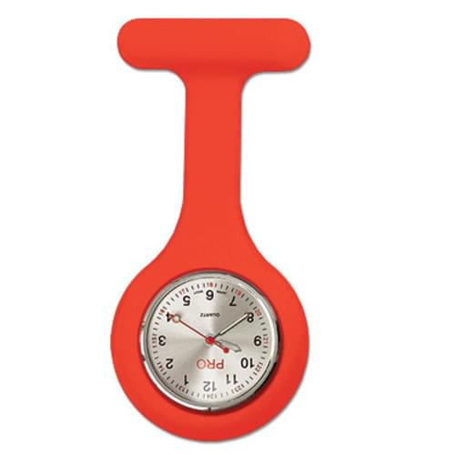 Silicone Lapel Watch - Red