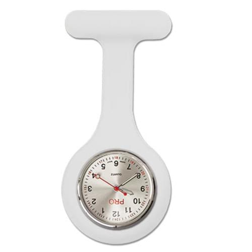 Silicone Lapel Watch - White