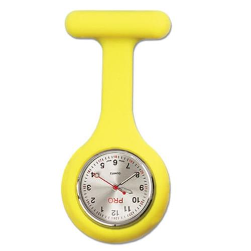 Silicone Lapel Watch - Yellow
