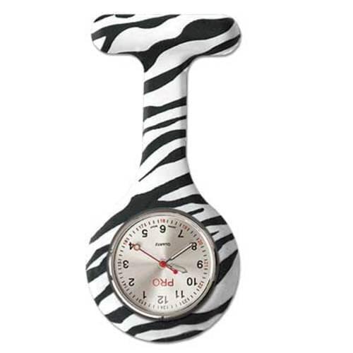 Silicone Lapel Watch - Zebra Stripes