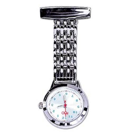 Chrome Lapel Watch