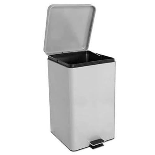 Brewer White 32 Quart Square Steel Waste Can