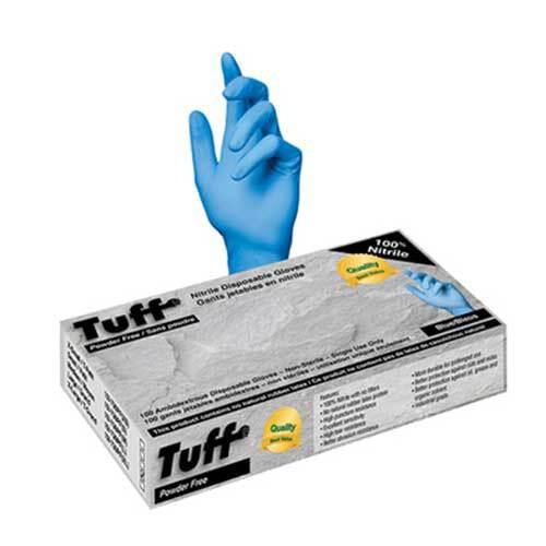 Tuff Blue Nitrile Disposable Non-Medical Gloves Medium