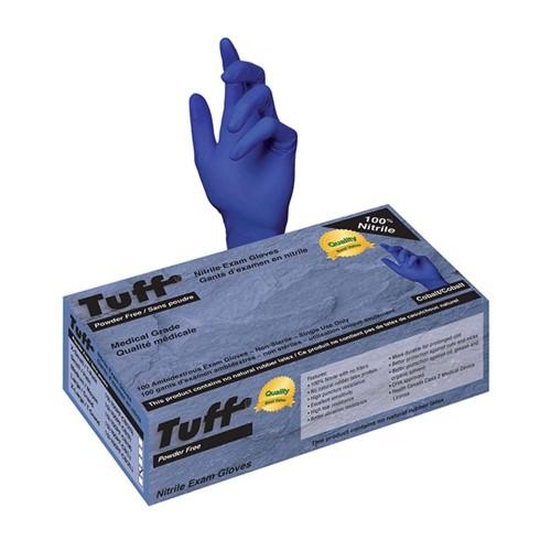 Tuff Nitrile Powder Free Blue Exam Gloves Large
