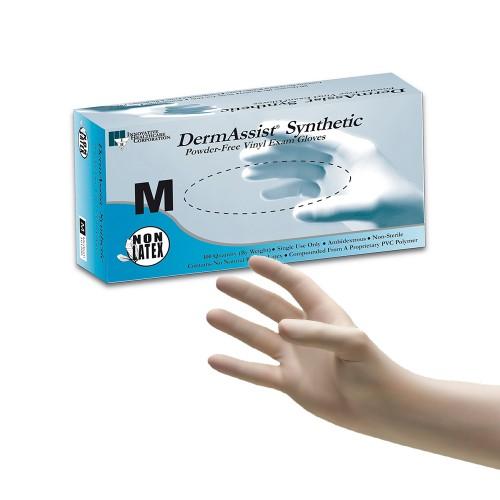 DermAssist® Vinyl Powder Free Exam Gloves 100/Box