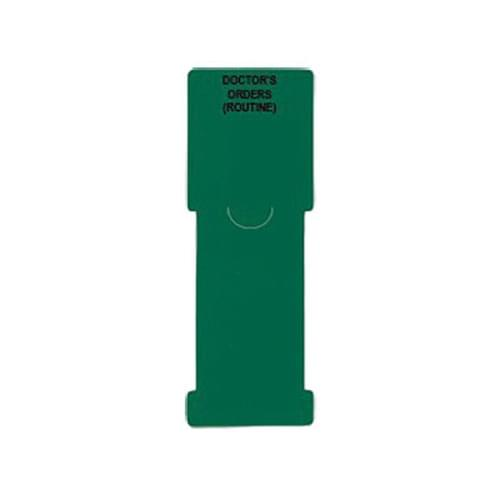 Patient Chart Divider Pull-Tab Alert - Doctor's Orders Routine - Green