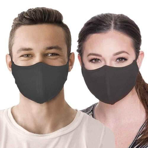 Reusable Face Mask with FUZE Antibacterial Treatment Gray - Pack of 2 masks