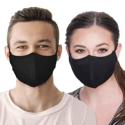 Reusable Face Mask with FUZE Antibacterial Treatment Black - Pack of 2 masks