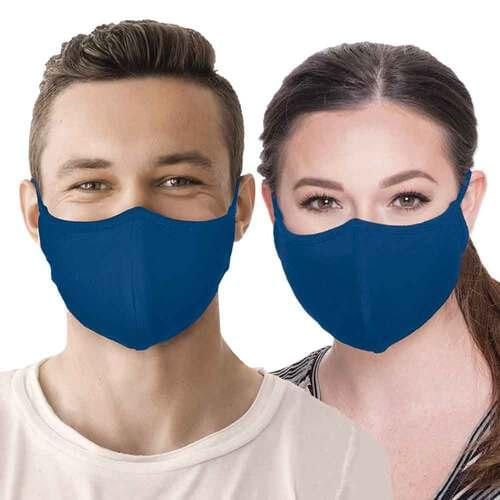 Reusable Face Mask with FUZE Antibacterial Treatment Royal Blue - Pack of 2 masks