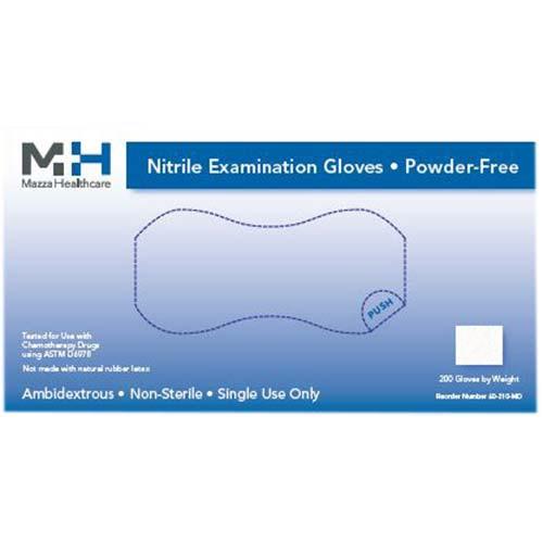 Medical Nitrile Powder Free Light Blue Exam Gloves 200/Box