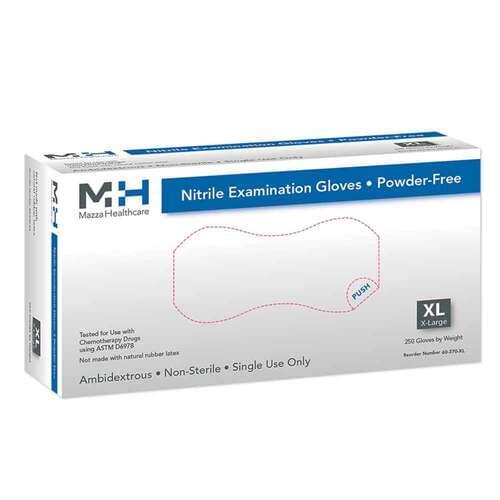 Medical Nitrile Powder Free Exam Gloves X-Large - Slim Fit Space Saver Box Design