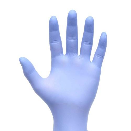 <p>Featuring a new slim space-saving design!</p> <p>Offers barrier protection against viruses, bacteria, chemicals, and 13 types of chemotherapy drugs.</p> <p><strong>Details</strong></p> <ul> <li>Nitrile gloves</li> <li>Light blue</li> <li>Health Canada Device License #105286</li> <li>Powder-free</li> <li>Chemo-rated</li> <li>Latex-free</li> <li>Slim space-saving box design</li> <li>Non-sterile</li> <li>Single-use only</li> <li>Textured fingertips</li> <li>Advanced film formulation enhances tactile sensitivity and dexterity</li> <li>Ambidextrous</li> <li>3.0 g/4 mil thickness</li> <li>100/box</li> </ul>