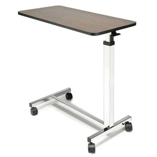 Lumex Everyday Non-Tilt Overbed Table - Walnut