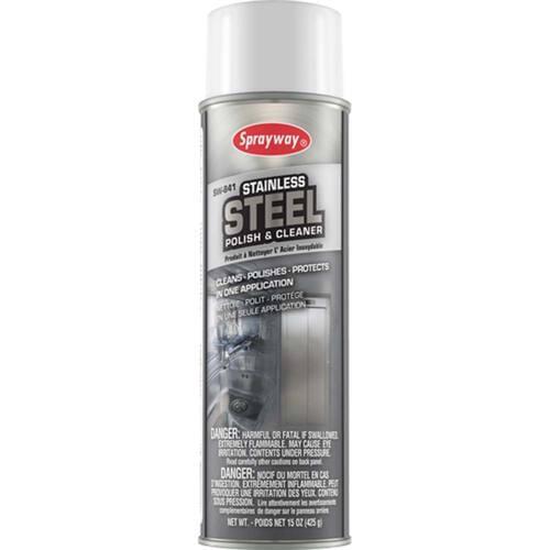 Sprayway 841 Stainless Steel Polish & Cleaner 19oz