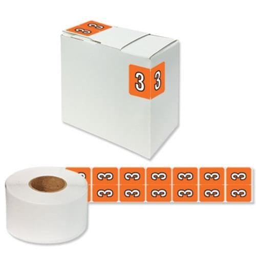 """Number Labels """"3"""" 256/Pack"""
