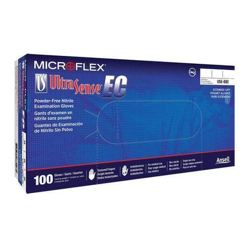 Microflex® Ultrasense® EC Nitrile Blue Exam Gloves X-Large