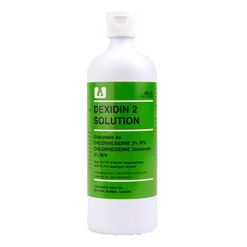 Dexidin& 2 Tinted Antiseptic Solution 2% 450ml 12 bottles/case